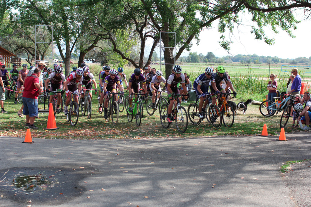 Cat1/2/3 Men start at the 13th Annual Eagle Island cyclocross race