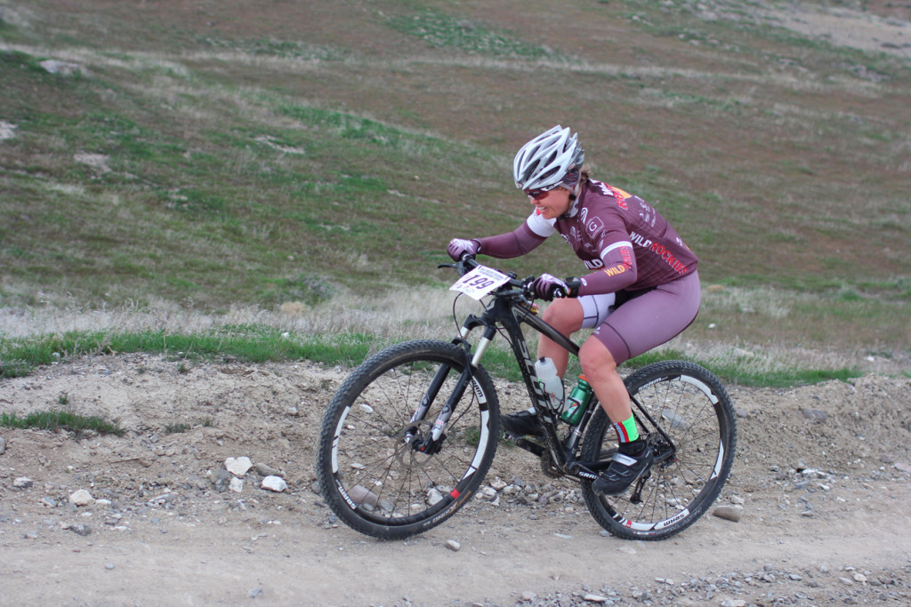Sara Lloyd finding the climbs are not getting easier on the second lap