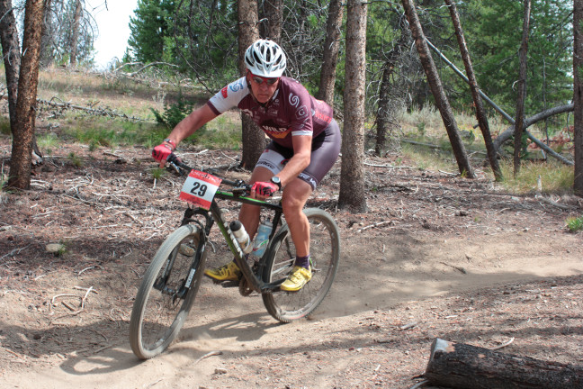 Weston at 2015 Galena Grinder at the end of the big (second) loop, ~10 minutes behind Connell