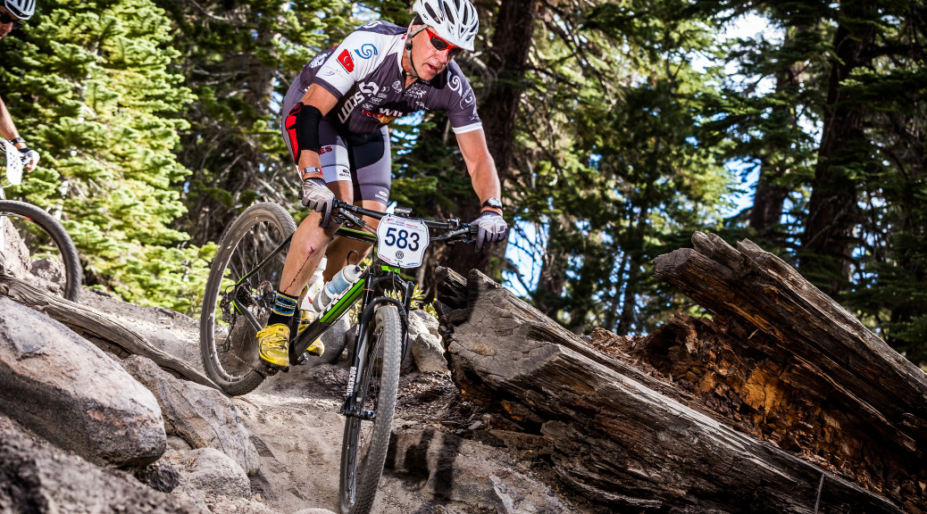 Weston at 2015 XC MtB National Championship looking good on technical descent